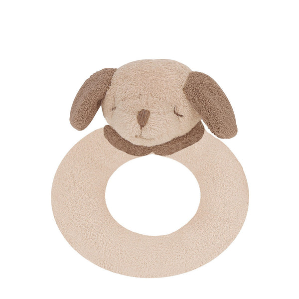 "Angel Dear 4"" Brown Puppy Ring Rattle - Frolicstyle"