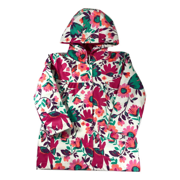 Hatley Tortuga Bay Floral Classic Girls Raincoat - Frolicstyle