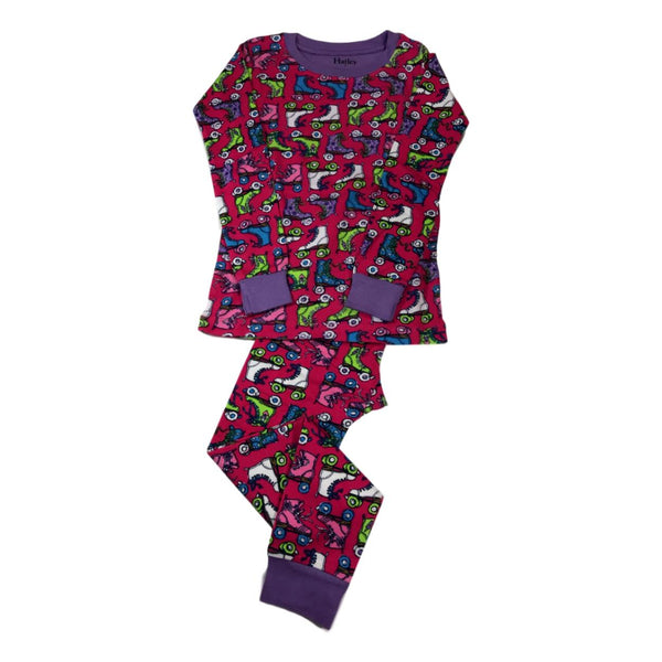 Hatley Roller Girl Two Piece Organic Cotton Pajamas