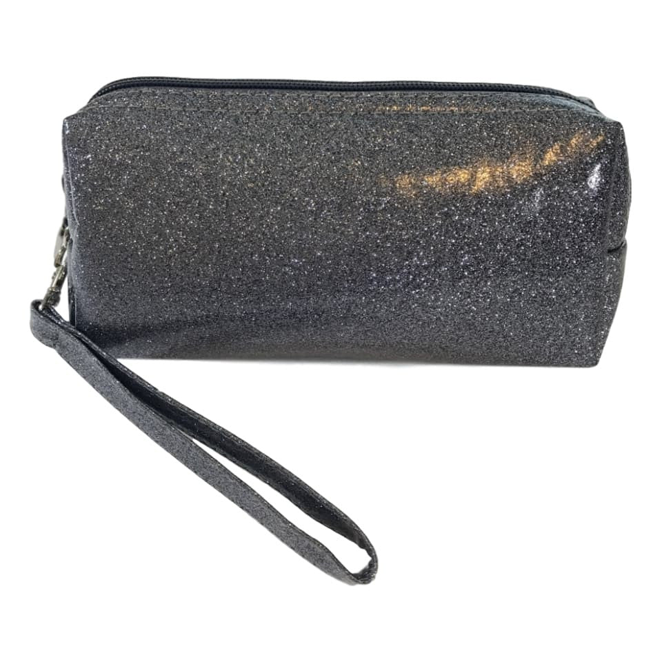 Bari Lynn 8 Inch Hologram Grey Glitter Finish Pencil Bag - Frolicstyle