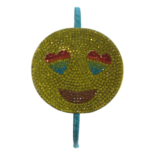 Bari Lynn Smiley Face Emoji With Rainbow Eyes Headband