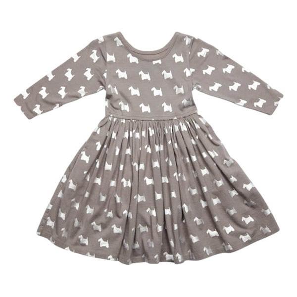 Pink Chicken Steph Smoked Pearl Long Sleeve Girls Dress - Frolicstyle