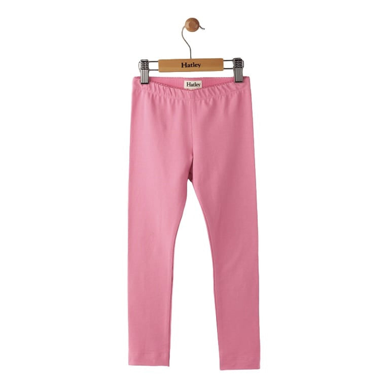 Hatley Girls Leggings - Candy Pink Elastic Waist Ankle Length - Frolicstyle
