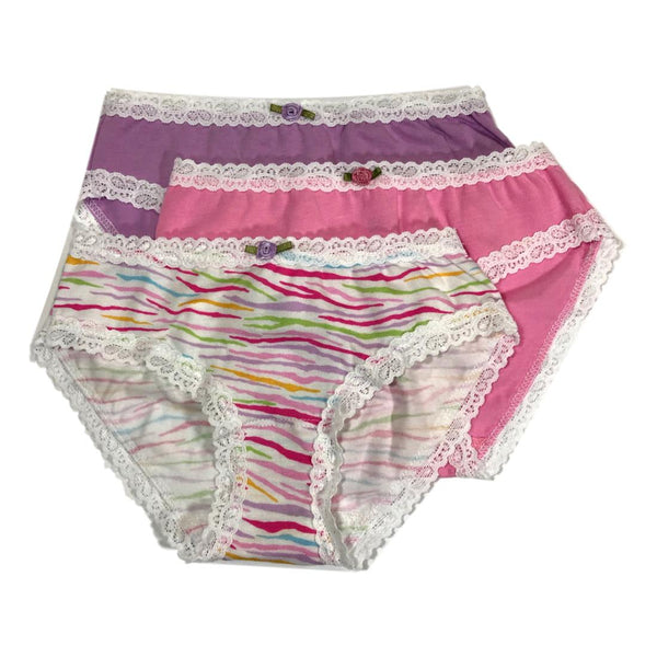 Esme Girls 3 Pack Underwear - Rainbow Zebra Soft - Frolicstyle