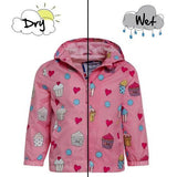 Holly&Beau Pink Cupcake Color Changing Raincoat - Frolicstyle