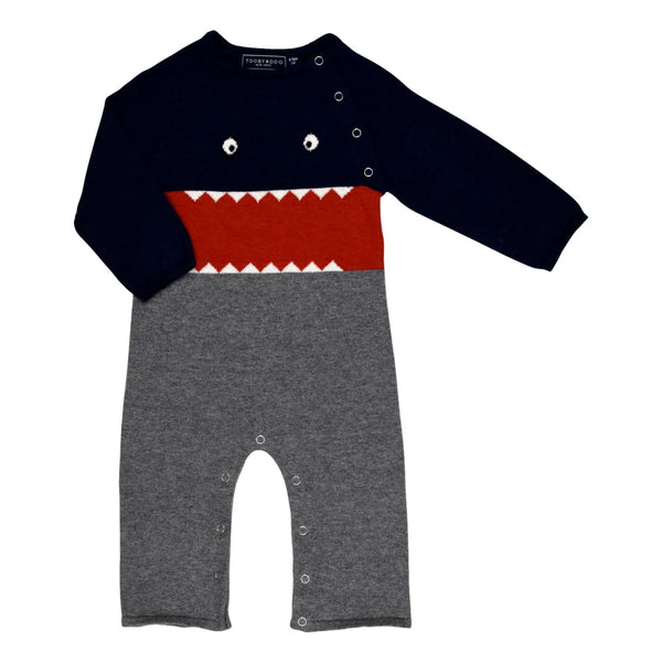 Toobydoo Little Monsters / Mikey Long Sleeve Romper - Frolicstyle