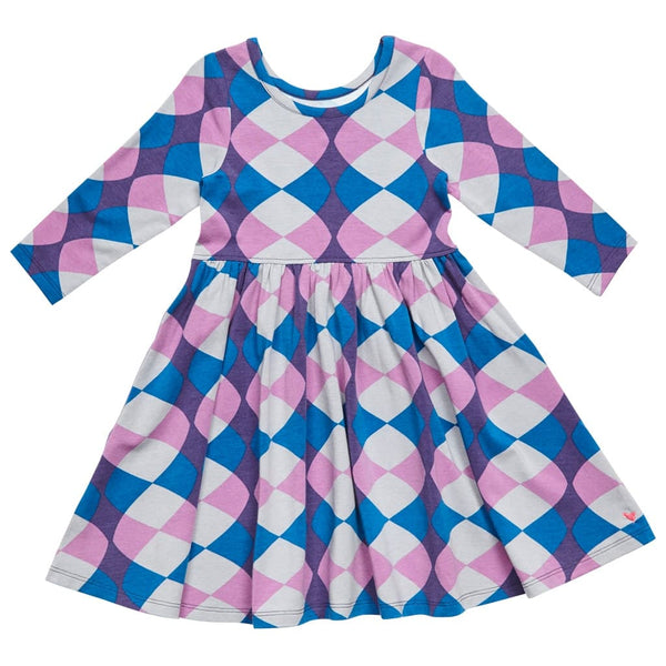 Pink Chicken Steph Retro Kaleidoscope Print Dress - Frolicstyle