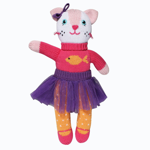 "Zubels 12"" Kylie The Pink Kitty Doll"