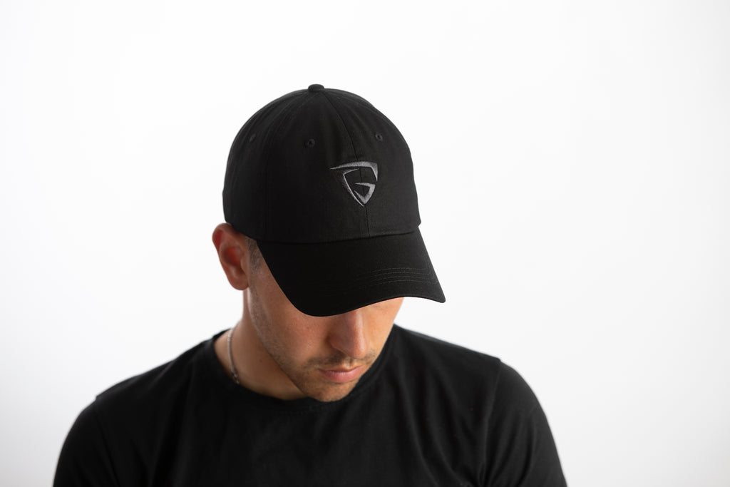 Dad Hat - Black (Black logo)