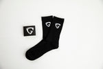 Black Socks (White Logo)