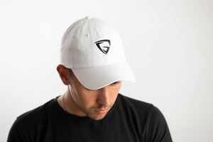 Dad Hat - White (Black logo)