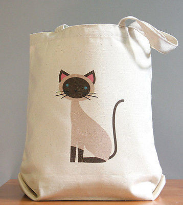 Siamese canvas tote bag -  - 1