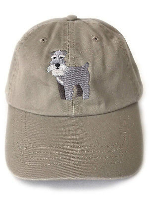 Schnauzer embroidered baseball cap - squarepaisleydesign