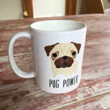 coffee mug with pug
