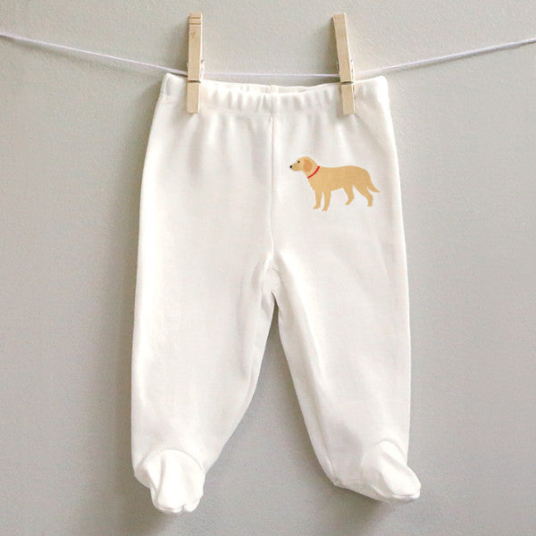 Golden Retriever baby pants size 6 months - 9 months - squarepaisleydesign
