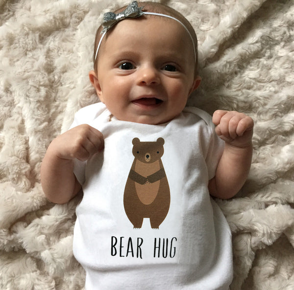 Bear Hug baby boy clothes, baby boy bodysuit