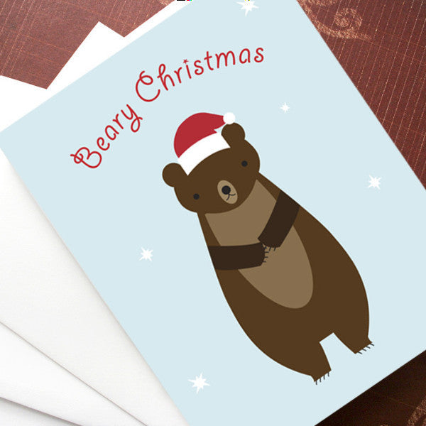 bear christmas cards
