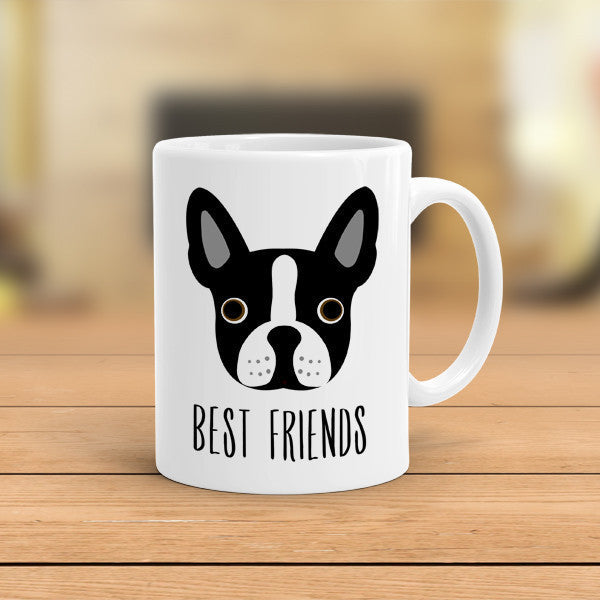 boston terrier coffee mug