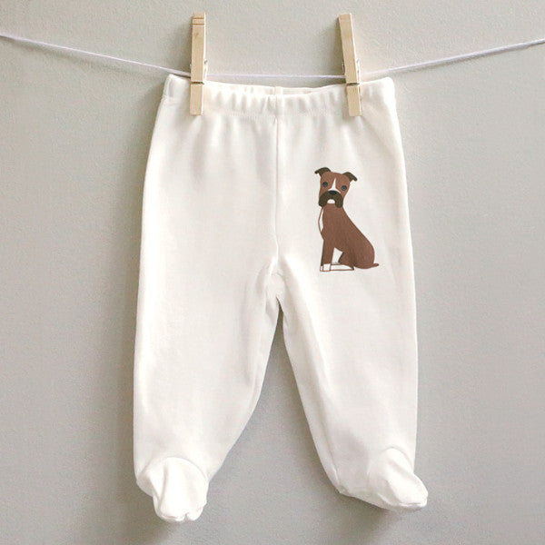 Boxer cotton baby pants - squarepaisleydesign