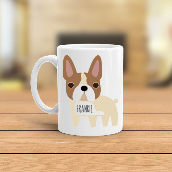 personalized french bulldog mug