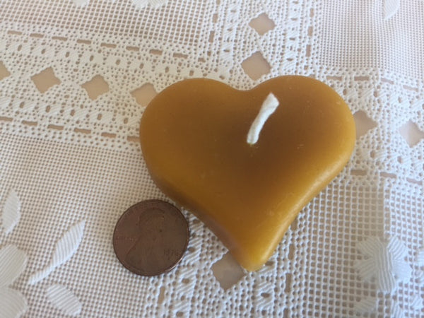 100% Pure Bees Wax Candle- Heart