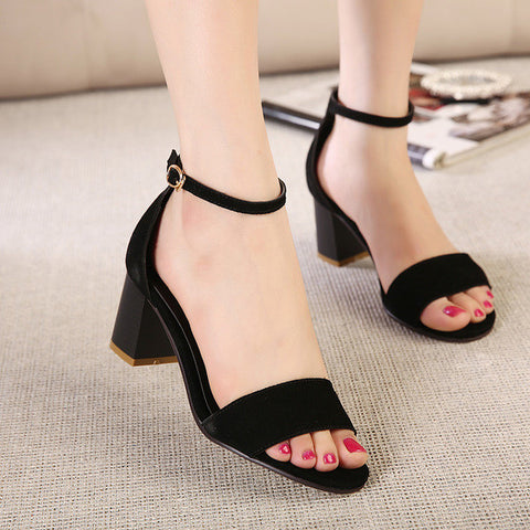 Lovely Ankle Strap Sandal Style Cute Heels