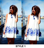 Beautiful Sleeveless Chiffon Summer Beach Mini Dress