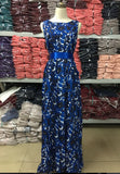 Beautiful Blue Maxi Long Slim Hip Dress