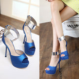 Beautiful Stylish Open Toe Platform Stiletto High Heels