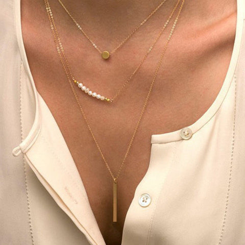Beautiful Stylish Pearl Chain Trendy Necklace