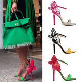 Beautiful Unique Colorful Butterfly High Heels