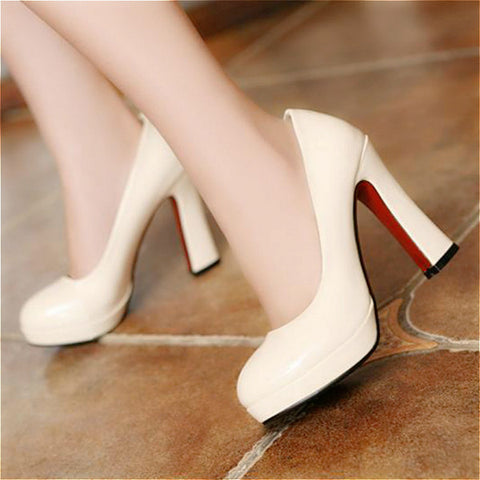 Playful Bottom Pointed Toe High Heels