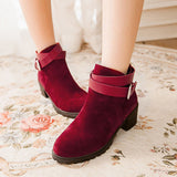 Cool Casual Ankle Strap Ankle Boots