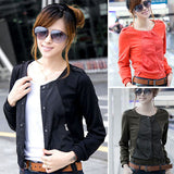 Cool Casual Crew Neck Short Jacket