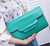 Modern Envelope Crosshatch Clutch