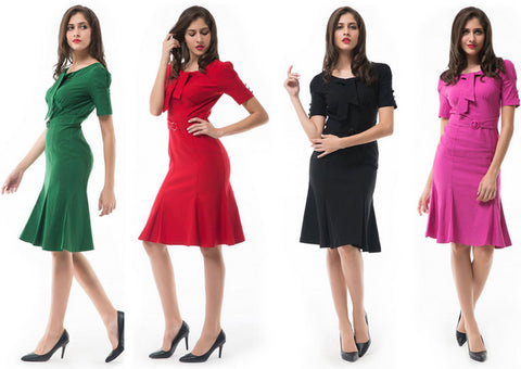Fashionable Stretch Fit Casual Party Dress