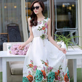 Beautiful Stylish Floral Design Chiffon Swing Dress
