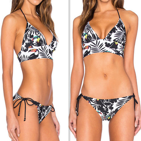 Pretty Floral Print Swimsuit Bikini