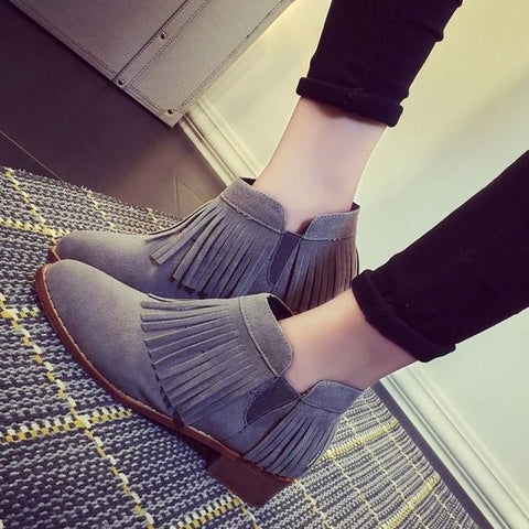 Lovely Fringe Stylish Tassel Boots