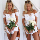 Stylish Floral Boob Tube Jumpsuit