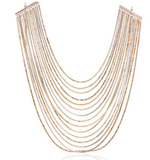 Golden Luxury Tassel Womens Necklace