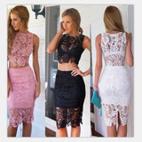 Modern Pink Lace Summer Dress