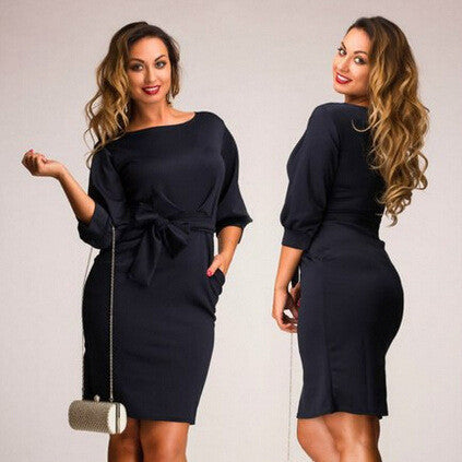 Beautiful Black Plus Size Stylish Loose Dress
