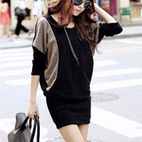 Stylish Loose Casual Long Batwing Dress