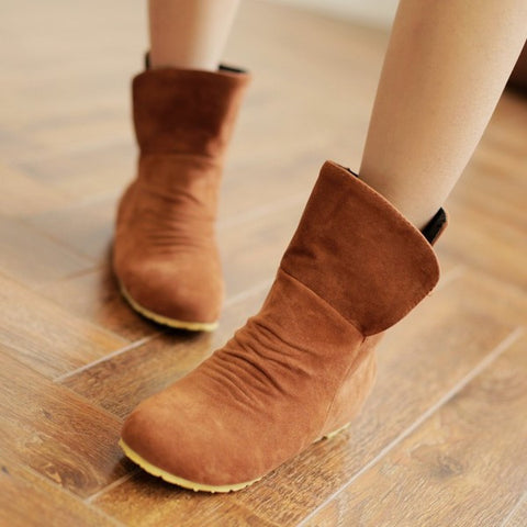 Cute Casual Mid Calf Boots