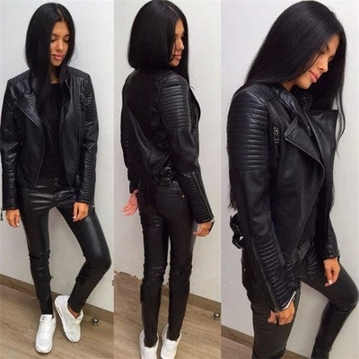 Urban Black Trendy Motorcycle Jacket