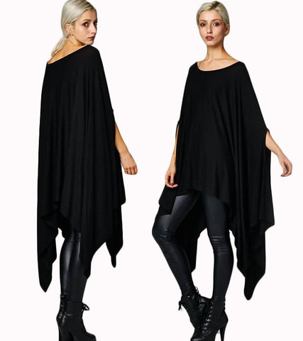 Stylish Oversize Cape Tunic Poncho Top