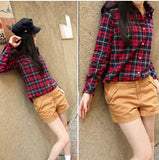 Classic Stylish Plaid Cotton Shirt