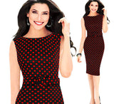 Stylish Polka Dot Casual Work Dress