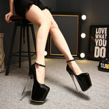Trendy Platform Pump Ankle Strap Stunning Stiletto High Heels